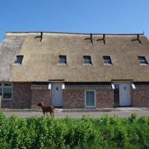 Buitenkant verbouwing boerderij Gees